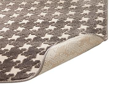 Gracie Oaks Highlands Charcoal/Ivory Area Rug; 5'3'' x 7'6''