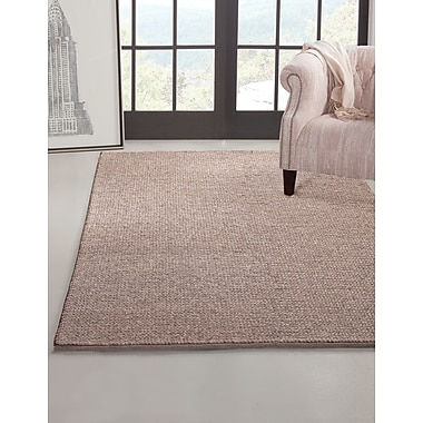Gracie Oaks Lloyd Braided Taupe Area Rug; 8' x 10'