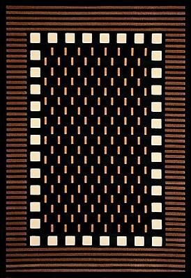 Ivy Bronx Colesville Chocolate/Black Area Rug; 5'3'' x 7'6''