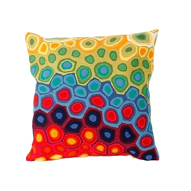 Latitude Run Phina Swirl Outdoor Throw Pillow; 20''
