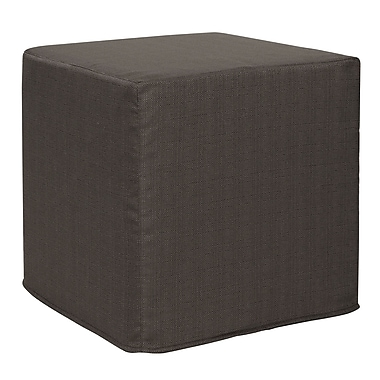 Latitude Run Contreras Block Sterling Ottoman; Charcoal