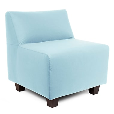 Latitude Run Cunningham Slipper Chair; Seascape Breeze