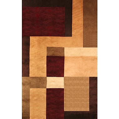 Red Barrel Studio Mystic Hand-Knotted Gold/Brown Area Rug; 5' x 8'