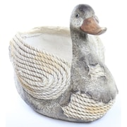 Alpine Duck Rope Resin Statue Planter