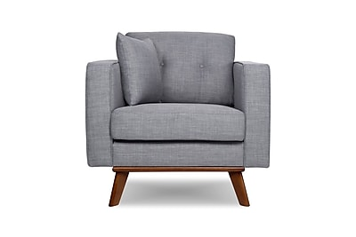 Capsule Frey Armchair; Gray Tweed