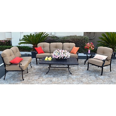 Darby Home Co Nola 5 Piece Deep Seating Group w/ Cushion