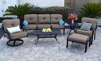 Darby Home Co Nola 6 Piece Deep Seating Group w/ Cushion