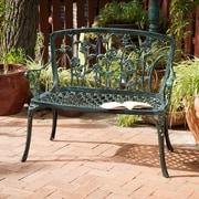 August Grove Lussan Aluminum Garden Bench