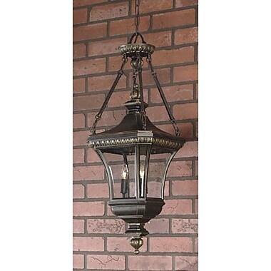 Astoria Grand Falnaglass 3-Light Outdoor Hanging Lantern