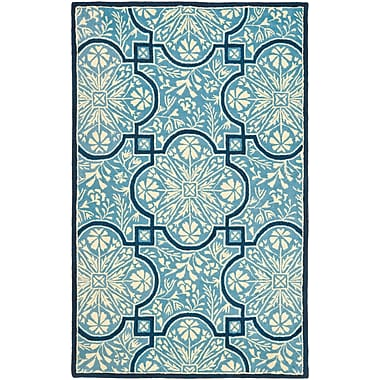 Martha Stewart Rugs French Painted Avignon Hand-Loomed Kerry Blue Area Rug; Rectangle 5' x 8'