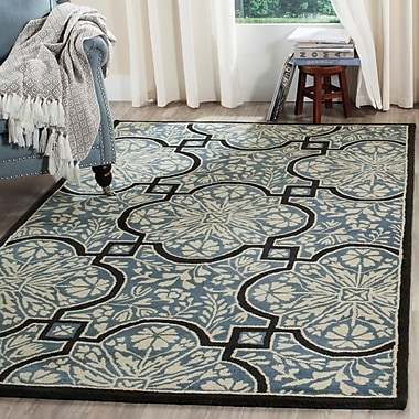 Martha Stewart Rugs French Painted Avignon Hand-Loomed Kerry Blue Area Rug; Runner 2'3'' x 8'