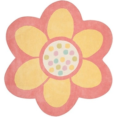 Martha Stewart Rugs Dot Daisy Hand-Tufted Egg Yolk Area Rug; 4' x 4'4''