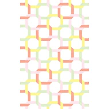 Martha Stewart Rugs Tufted-Hand-Loomed Yellow/Red/Green Area Rug; 8' x 10'
