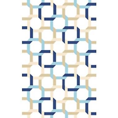 Martha Stewart Rugs Tufted-Hand-Loomed Blue/Green/Yellow Area Rug; 4' x 6'