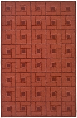 Martha Stewart Rugs Square Knot Hand-Loomed Vermillon Area Rug; Rectangle 9' x 12'