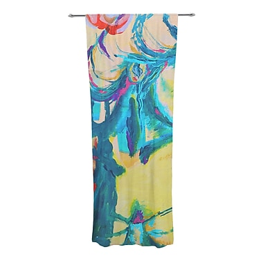 East Urban Home Abstract Sheer Rod Pocket Curtain Panels (Set of 2)