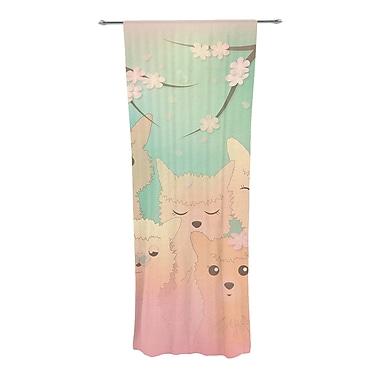 East Urban Home Alpacas Wildlife Sheer Rod Pocket Curtain Panels (Set of 2)