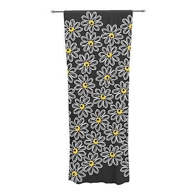 East Urban Home Chamomile Nature / Floral Sheer Rod Pocket Curtain Panels (Set of 2)