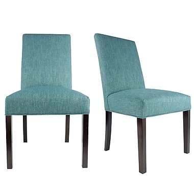 Latitude Run Lloyd Upholstered Contemporary Parsons Chair (Set of 2); Zenith Teal