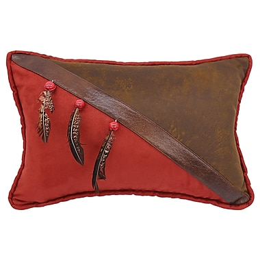 Loon Peak Glenn Faux Leather Lumbar Pillow