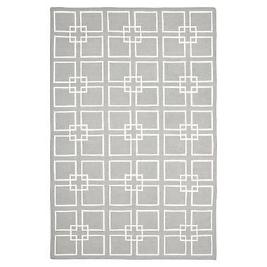 Martha Stewart Rugs Dance Flat Weave Cement Gray Area Rug; Rectangle 4' x 6'
