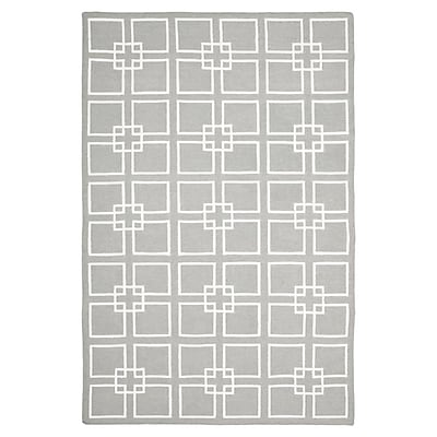 Martha Stewart Rugs Dance Flat Weave Cement Gray Area Rug; Rectangle 4' x 6'