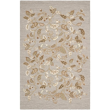 Martha Stewart Rugs Autumn Woods Hand-Tufted Gray Squirrel Area Rug; Rectangle 9' x 12'
