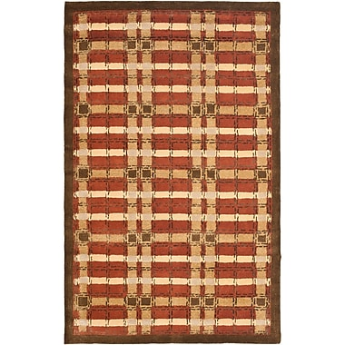Martha Stewart Rugs Colorweave Plaid Hand-Tufted Rust Area Rug; Rectangle 9'6'' x 13'6''