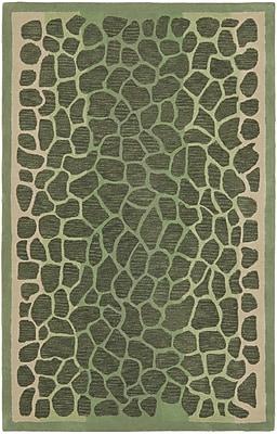 Martha Stewart Rugs Arusha Hand-Tufted Grassland Green Area Rug; Rectangle 5' x 8'