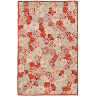 Martha Stewart Rugs Poppy Field Hand-Tufted Cayenne Red Area Rug; Rectangle 4' x 6'