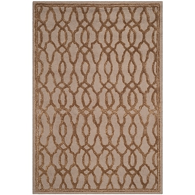 Martha Stewart Rugs Martha Stewart Hand-Tufted Brown / Bronze Area Rug; Rectangle 4' x 6'