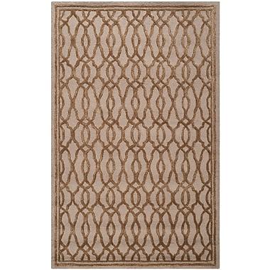 Martha Stewart Rugs Martha Stewart Hand-Tufted Brown / Bronze Area Rug; Rectangle 5' x 8'