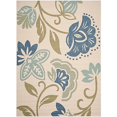 Martha Stewart Rugs Petaluma Beige/Blue/Sage Area Rug; 8' x 11'2''