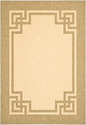 Martha Stewart Rugs Deco Frame Beige / Dark Beig Area Rug; 5'3'' x 7'7''
