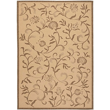 Martha Stewart Rugs Swirling Garden Creme / Brown Area Rug; 6'7'' x 9'6''