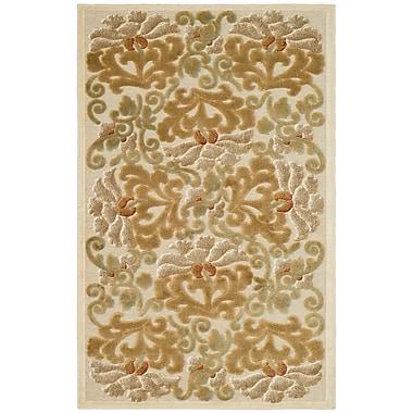 Martha Stewart Rugs Floating Dahlia Tufted-Hand-Loomed Beige/Brown Area Rug; 2'7'' x 4'