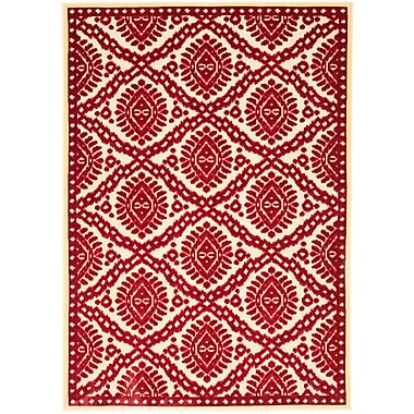 Martha Stewart Rugs Hand-Woven Red Area Rug; 2'7'' x 4'