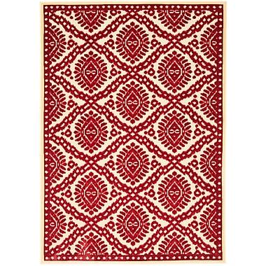 Martha Stewart Rugs Hand-Woven Red Area Rug; 4' x 5'7''