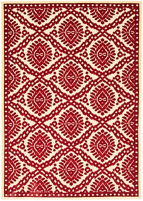 Martha Stewart Rugs Hand-Woven Red Area Rug; 8' x 11'2''