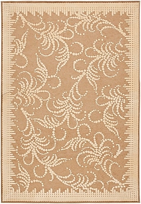 Martha Stewart Rugs Fountain Swirl Hand-Loomed Taupe Area Rug; 2'7'' x 4'