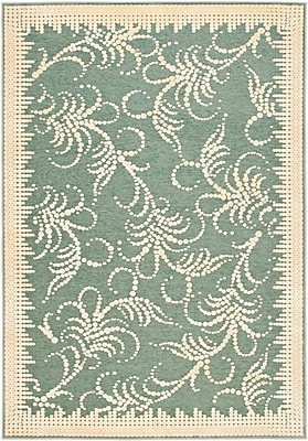 Martha Stewart Rugs Fountain Swirl Hand-Loomed Blue Area Rug; Rectangle 2'7'' x 4'