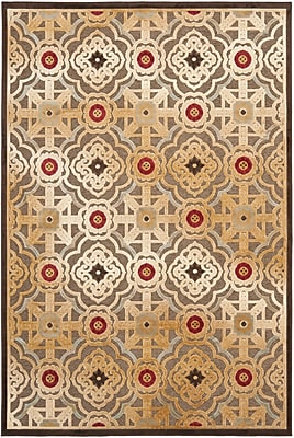 Martha Stewart Rugs Imperial Palace Brown/Red Area Rug; 5'3'' x 7'6''