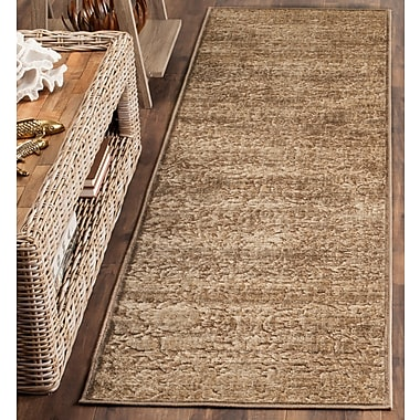 Martha Stewart Rugs Soft Anthracite/Camel Area Rug; 6'7'' x 9'2''