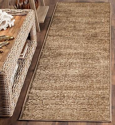Martha Stewart Rugs Soft Anthracite/Camel Area Rug; 2'7'' x 4'