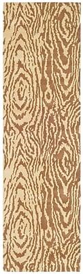 Martha Stewart Rugs Layered Faux Bois Hand-Loomed Sequoia Area Rug; Runner 2'3'' x 8'