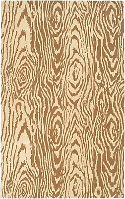 Martha Stewart Rugs Layered Faux Bois Hand-Loomed Sequoia Area Rug; Rectangle 4' x 6'