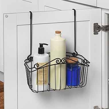 Spectrum Diversified Scroll Towel Bar Cabinet Door Organizer; 14'' H x 10.5'' W x 8.5'' D
