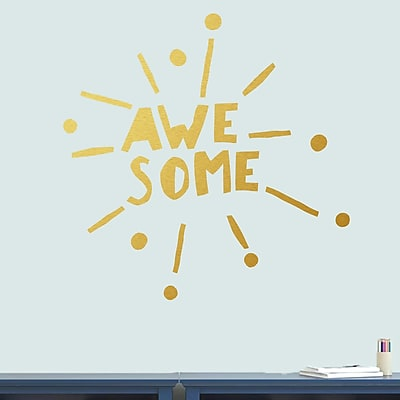 SweetumsWallDecals Awesome Burst Wall Decal; Gold