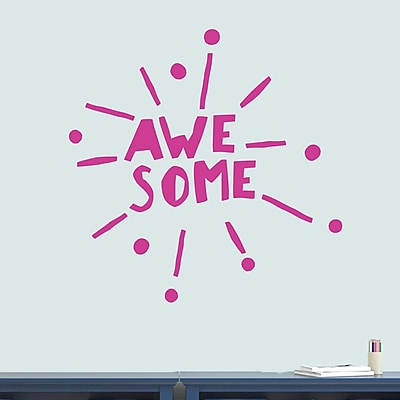 SweetumsWallDecals Awesome Burst Wall Decal; Hot Pink