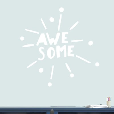 SweetumsWallDecals Awesome Burst Wall Decal; White